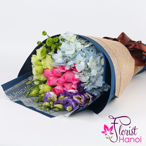 Buy love flowers bouquet in Hanoi