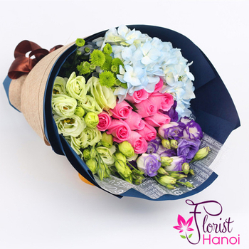 Buy love flowers bouquet online hanoi Vietnam