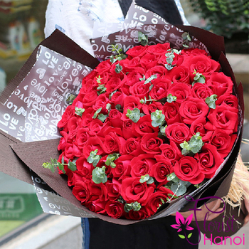 send bouquet red rose to hanoi vietnam