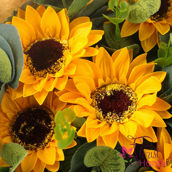 Sunflower bouquet for birthday