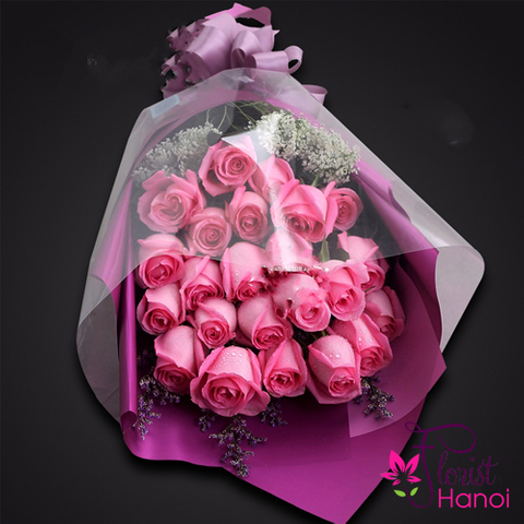 Pink rose bouquet Hanoi city