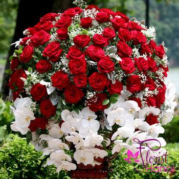 VIP flower with red roses in hanoi vietnam
