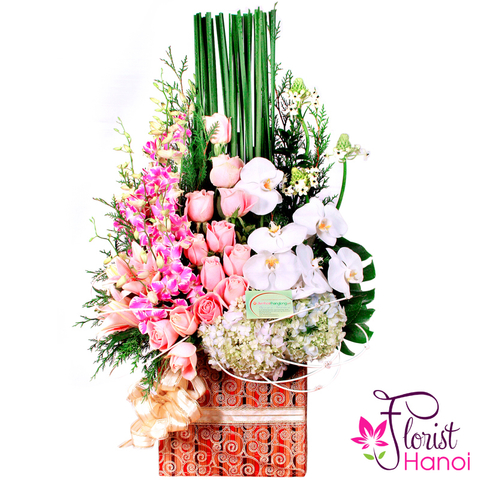 Flowers basket delivery free to Hanoi city