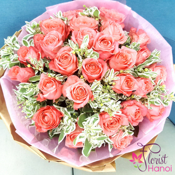 Birthday flowers bouquet roses in Hanoi payment online
