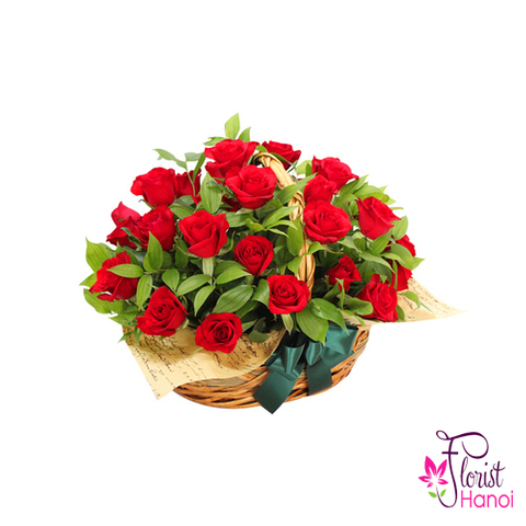 Romantic roses for girlfriend in Vietnam