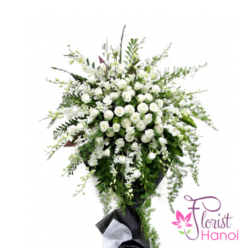 Order funeral flowers online Hanoi free shipping