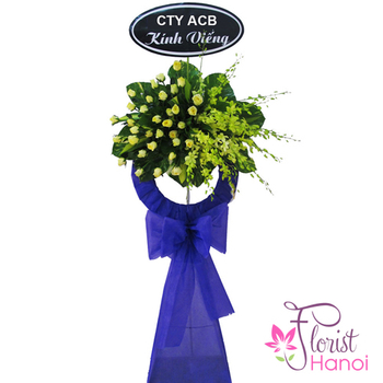 Funeral flower arrangement Hanoi city