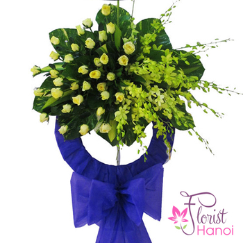 Funeral flower arrangement Hanoi city online services
