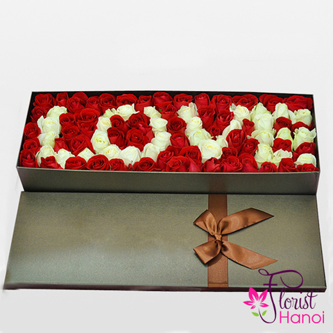 Love flowers box in Hanoi