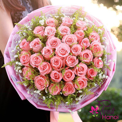 Hanoi order bouquet flower free delivery
