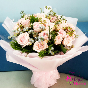 Roses bouquet free delivery in Hanoi