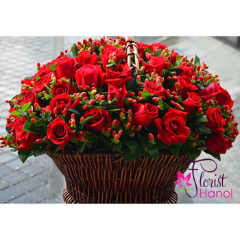 99 red roses love you forever in florist Hanoi