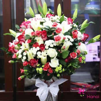 Hanoi flowers in a vase free shipping