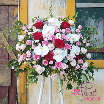 Hanoi flowers stand for congratulation free ship