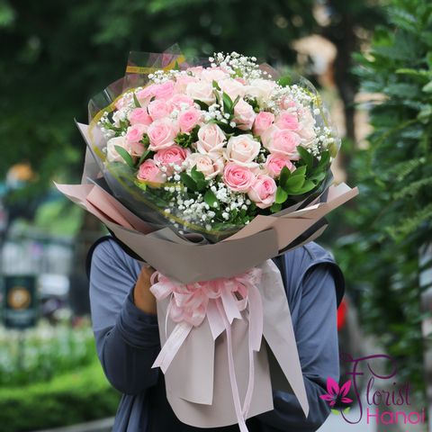 Birthday rose bouquet delivery Hanoi