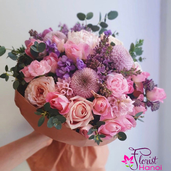 Mixed rose bouquet Delivery in Hanoi VN