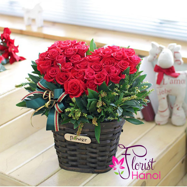 best christmas roses christmas flower delivered hanoi - Red Christmas Flowers
