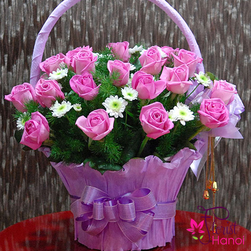 Send pretty punk basket to hanoi vietnam