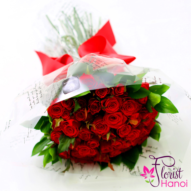 Send red rose bouquet for my girl in hanoi