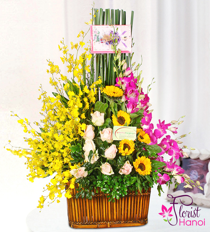 Beauty arrangement flowers in Saigon Vietnam