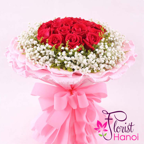 Best Valentine's day rose bouquet hanoi