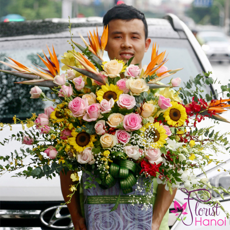 Send birthday gifts flowers to Hanoi