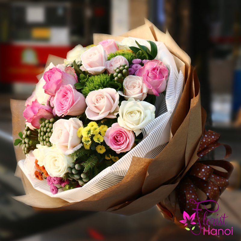 Bouquet flowers for my love in Hanoi