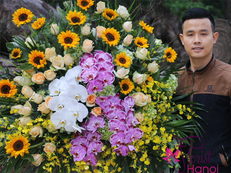 Congratulations flowers for opening business in Hanoi