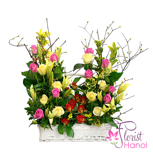 Hanoi birthday flowers and wishes free delivery
