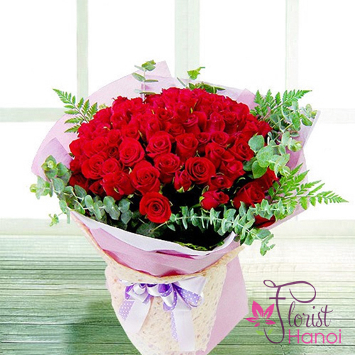 Hanoi birthday flowers for love free shipping