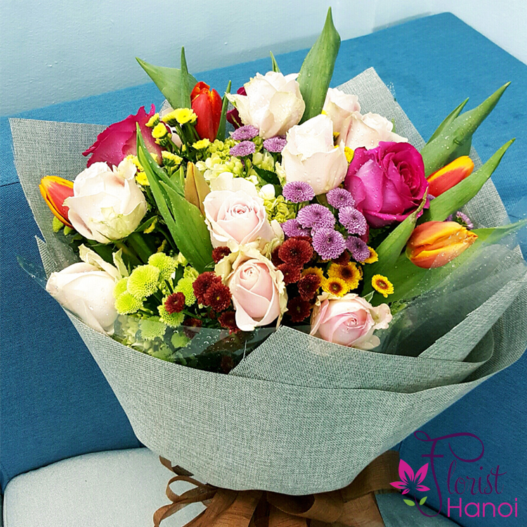 Hanoi birthday flowers meaning tulip bouquet