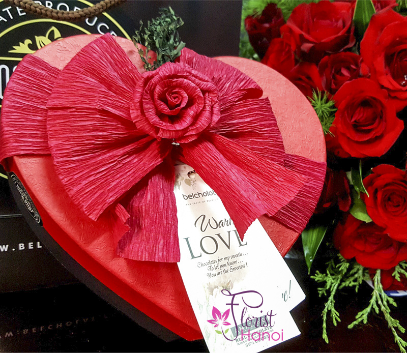 Hanoi heart chocolate box free shipping