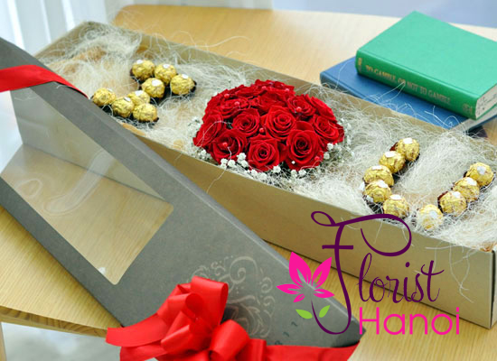 Valentine's Day Flowers and Chocolate Delivered Hanoi