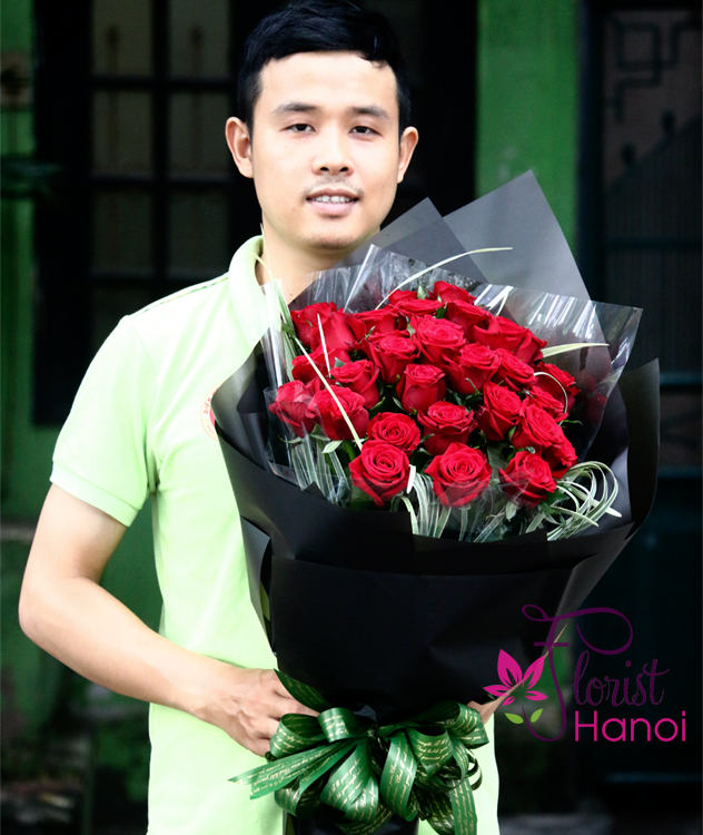 Red roses bouquet free shipping