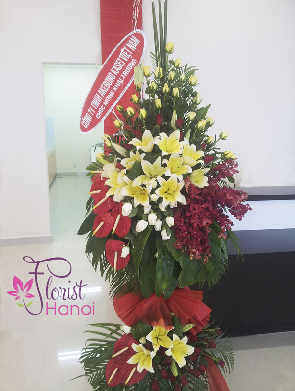 Send congratulations flowers to Hanoi online free delivery