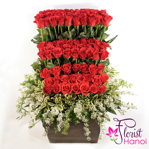 Send love flowers to HANOI  same day free delivery